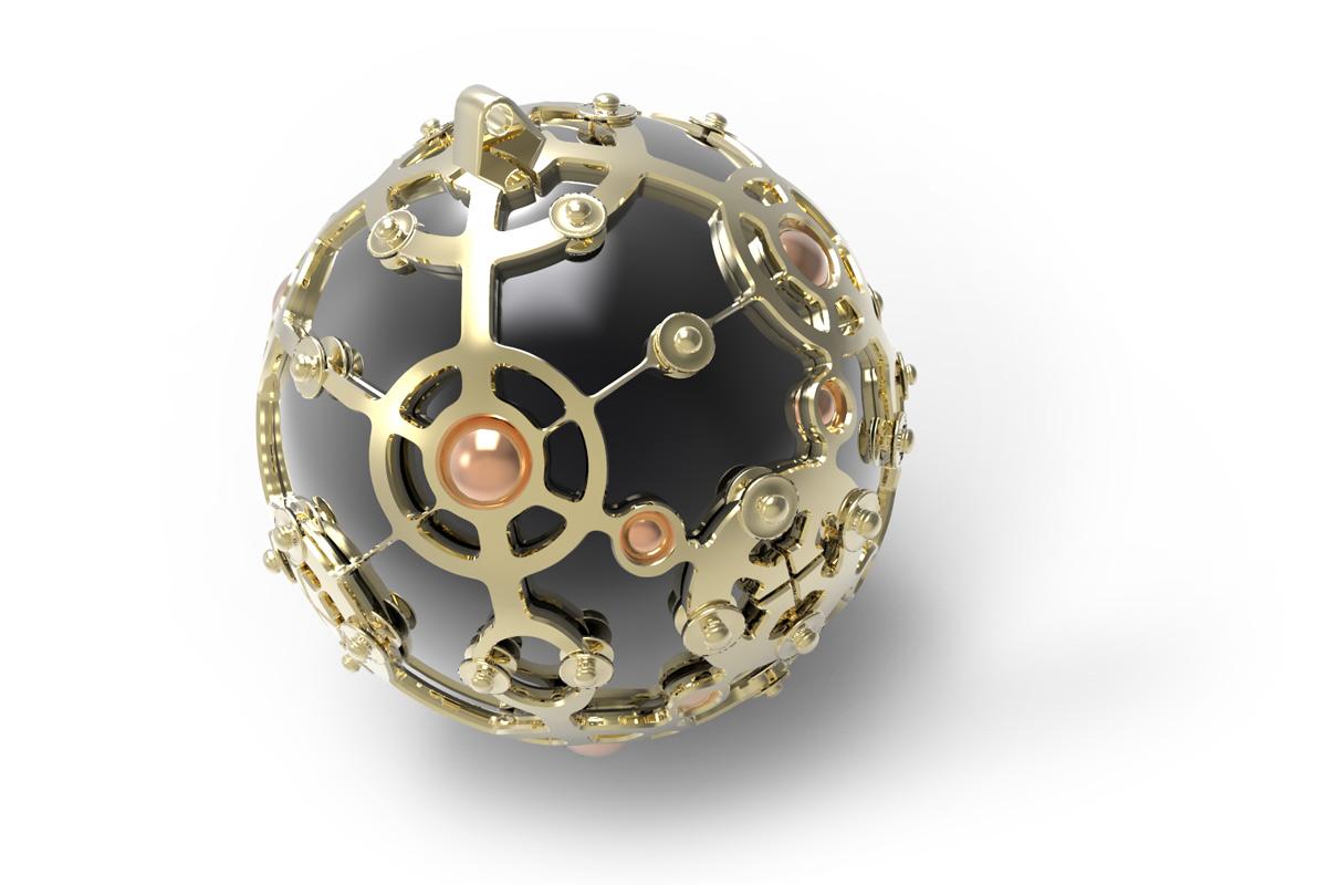 Juwelen design Hanger met onyx