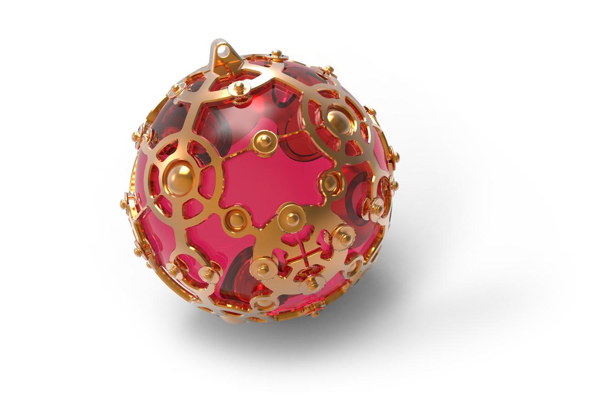 Juwelen design Hanger met robijn